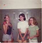Jill Leffler, Denise Johnson and Jill Jones in 8th grade