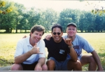 John Kinder, Mike Bicoy, and Brian Conlin ('77) at the picnic...